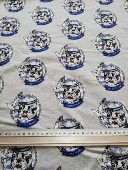 "Jersey French Terry Druck  Bulldogge ""Alter Seehund""  -FvJ-"
